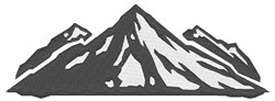 Mountain embroidery design