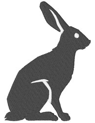 Rabbit Silhouette embroidery design