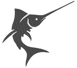 Swordfish Silhouette embroidery design