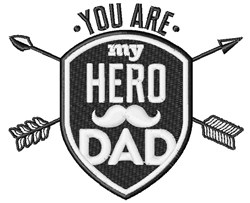 My Hero Dad embroidery design