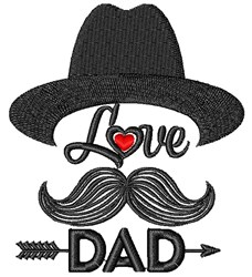 Love Dad embroidery design