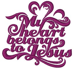 Heart Belongs To Jesus embroidery design
