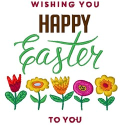 Happy Easter To You embroidery design