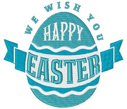 Wish You Happy Easter embroidery design