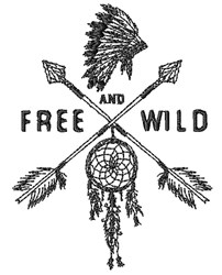 Free And Wild embroidery design