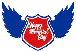 Happy Memorial Day embroidery design