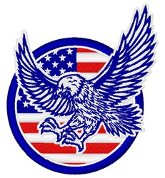USA Eagle embroidery design