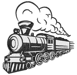 Train Engine embroidery design