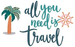 Need Travel embroidery design