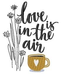 Love In Air embroidery design