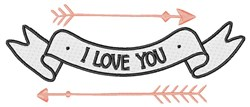 I Love You embroidery design