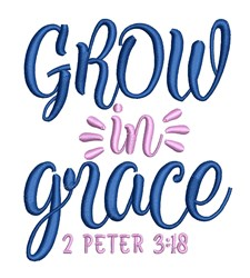 Grow In Grace embroidery design