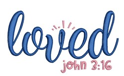 Loved John 3:16 embroidery design