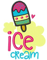 Ice Cream Desserts embroidery design
