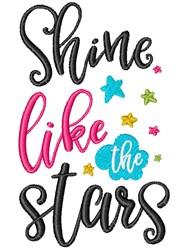 Shine Like The Stars embroidery design