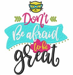 Be Great! embroidery design