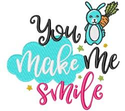 You Make Me Smile embroidery design