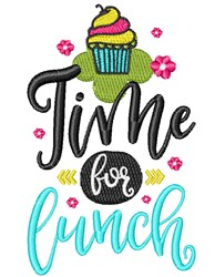 Time For Lunch embroidery design