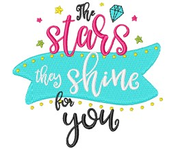 Stars Shine For You! embroidery design