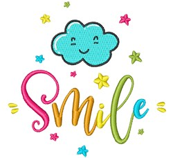 Smile! embroidery design