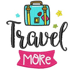 Travel More! embroidery design
