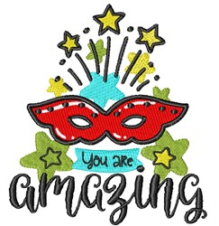You Are Amazing! embroidery design
