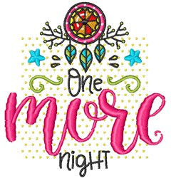 One More Night embroidery design