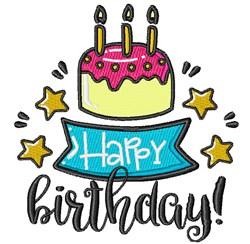 Happy Birthday! embroidery design