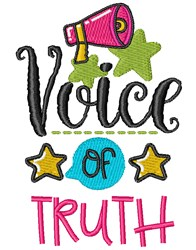 Voice Of Truth embroidery design