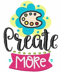 Create More embroidery design