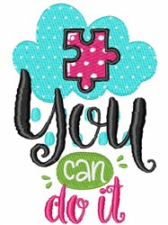 You Can Do It! embroidery design