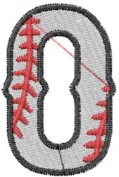 Baseball Letter O embroidery design