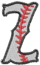Baseball Letter Z embroidery design