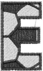 Soccerball  Letter E embroidery design