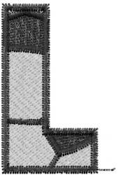 Soccerball  Letter L embroidery design