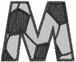 Soccerball  Letter M embroidery design