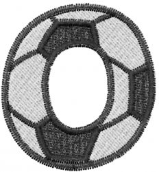 Soccerball  Letter O embroidery design