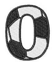 Soccer Number 0 embroidery design