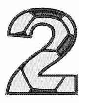 Soccer Number 2 embroidery design