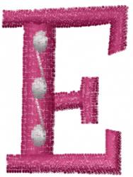 Dot Letter E embroidery design
