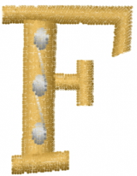 Dot Letter F embroidery design