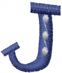 Dot Letter J embroidery design