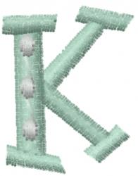 Dot Letter K embroidery design