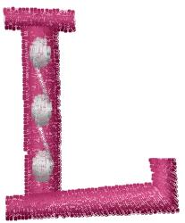 Dot Letter L embroidery design