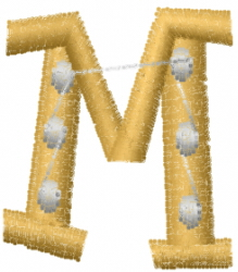 Dot Letter M embroidery design