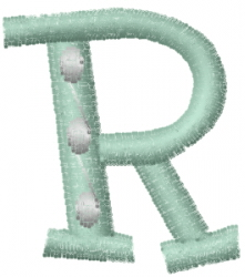 Dot Letter R embroidery design
