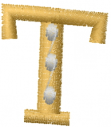 Dot Letter T embroidery design