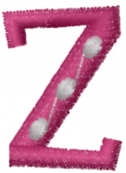 Dot Letter Z embroidery design