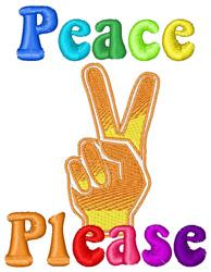 Peace Please embroidery design