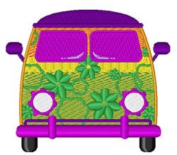 Groovy Van embroidery design